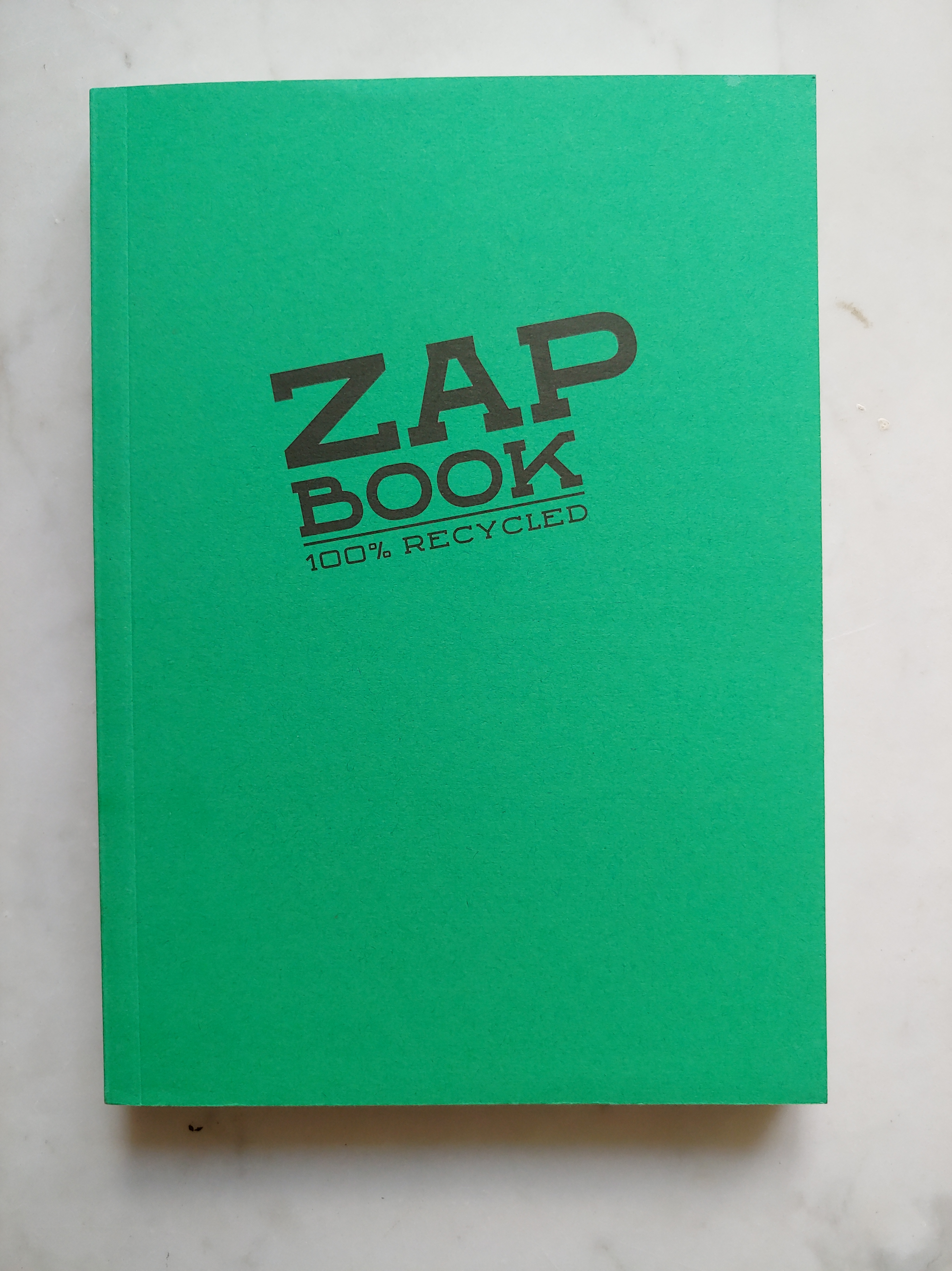 Bright green Zap Book