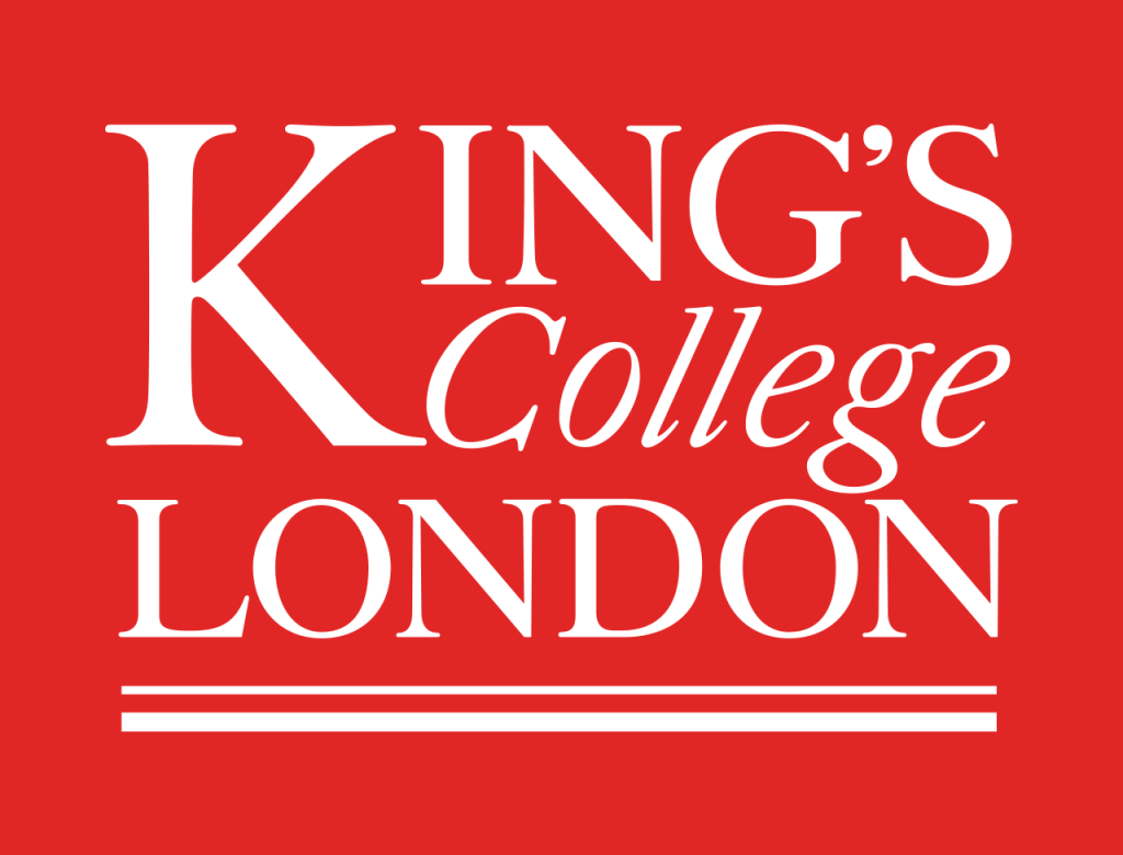 White on red logo for King's College London